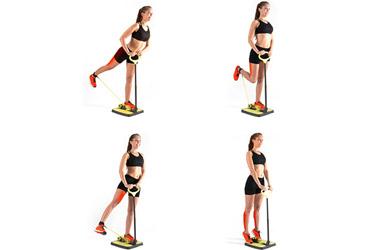 Plataforma de fitness para glúteos y piernas con guía de ejercici
