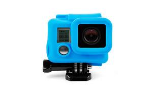Funda de Silicona para GoPro Hero 3, Hero 3+ y Hero 4, color Azul