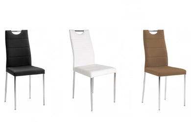 Pack de 4 sillas de piel sintética