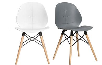 Pack de 4 sillas fabricadas en polipropileno
