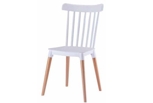 pack 4 sillas blancas con patas color Haya