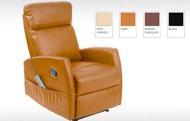 Sillón Relax Reclinable con rodillos de masaje y función calor.