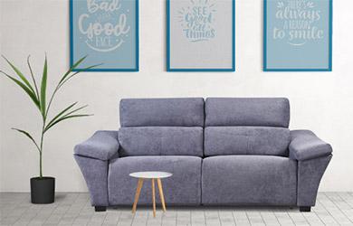 Sofá cama Itsaso de apertura italiana con cabezal reclinable