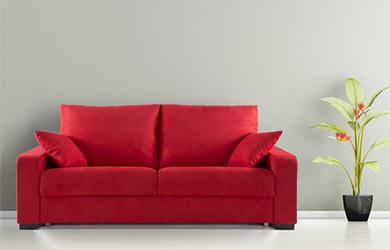 Sofá cama Xirimiri de apertura italiana con varios colores a eleg