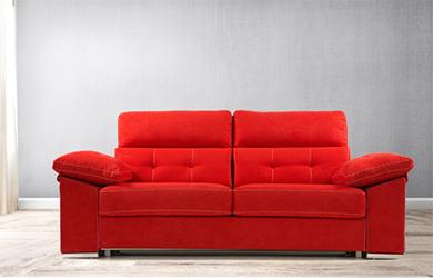 Sofá cama Ortzadar con cabezal reclinable y 4 medidas a elegir