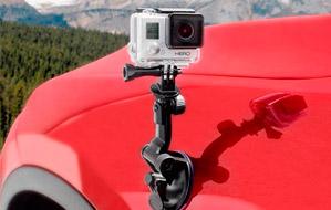 Soporte de coche con ventosa para GoPro HD, HERO, HERO2, HERO3 y
