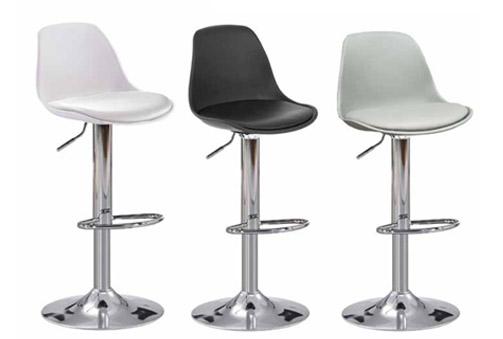 Lote de 2 taburetes de altura regulable color: blanco, negro o gr