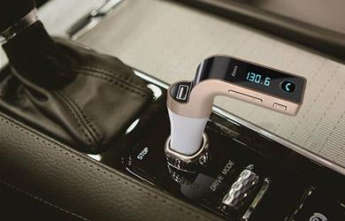 Transmisor FM CharG7 con Manos Libres, Voltímetro y Lector de USB