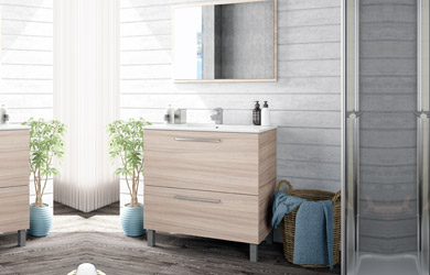 Mueble lavabo + espejo+ lavabo