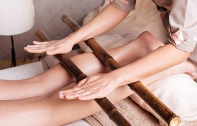 Drenaje linfático + masaje reductor y bambu