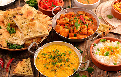 Menú para compartir en tandoori flame
