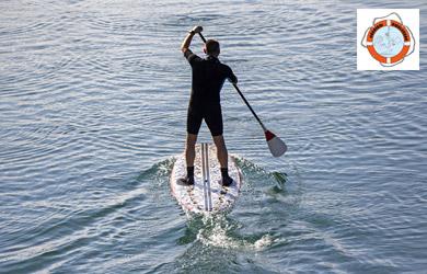 Bautismo stand up paddle surf en la reserva de Urdaibai