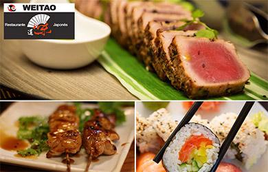 Menú japónes en el restaurante Weitao para 1 persona