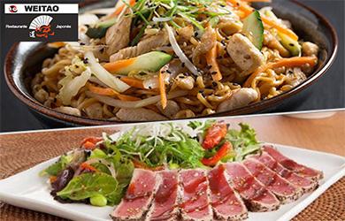 Menú japonés de 6 platos (Válido todos los días, excepto las cena