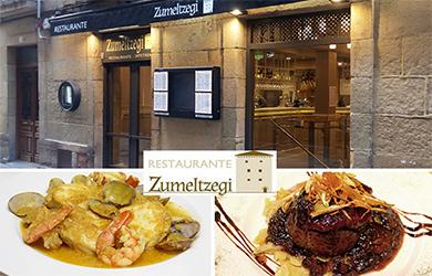 Menú especial en Restaurante Zumeltzegi