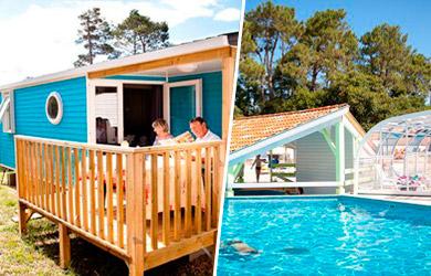 Estancia en mobil-home Riviera para 4 personas  en el Camping Le