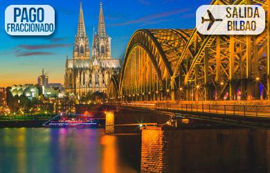 Viaje de 4 días con vuelos desde Bilbao, hotel en media pensión,v