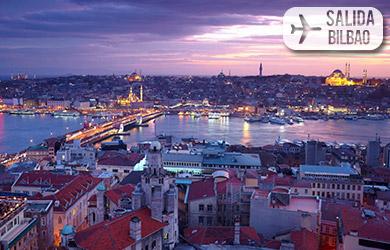 Viaje de 5 o 6 días con vuelos desde Bilbao, hoteles 4* con desay
