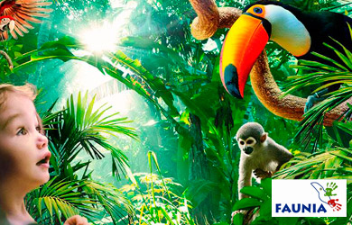 Entrada de 1 día a Parque Faunia de Madrid para adulto o niños