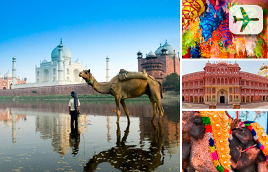 Viaje de 10 días a India con vuelos desde Madrid o Barcelona, hot
