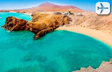 Viaje de 3 noches en Lanzarote y 3 o 4 en Fuerteventura con salid