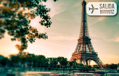 Viaje de 4 o 5 días con vuelo directo desde Biarritz, hotel con d