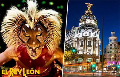 Escapada de 2 días en autobús para ver el musical El Rey León