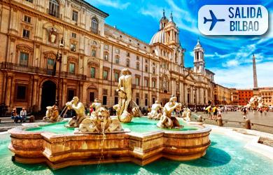 Viaje de 4/5 días a Roma desde Bilbao, hoteles 3* con desayuno, t