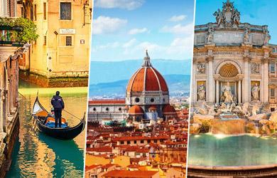 Viaje de 8 días a Roma, Florencia y Venecia desde Bilbao, hoteles