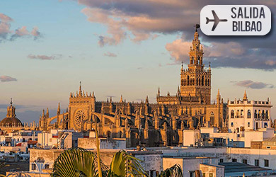 Viaje de 5/4/3 días con vuelos desde Bilbao, hotel 3*/4* con desa
