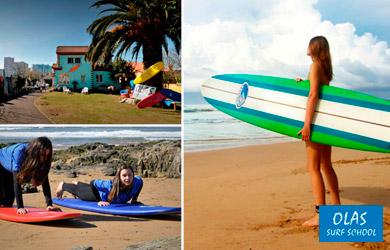 Estancia de 1 día de Surfcamp en régimen de pensión completa con